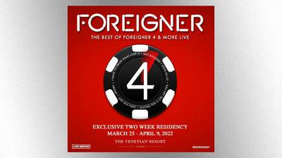 Foreigner returning to Las Vegas for 2022 residency dates
